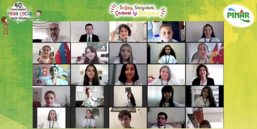 40. Uluslararası Pınar Çocuk Resim Yarışması'nın Kazananları Ödüllerini Aldı
