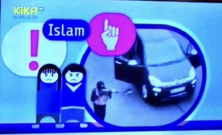 Almanya'da çocuk kanalı KIKA TV'den skandal paylaşım!
