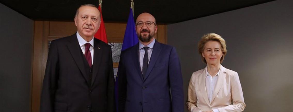 Cumhurbaşkanı Erdoğan, AB Konseyi ve AB Komisyonu Başkanı ile görüştü
