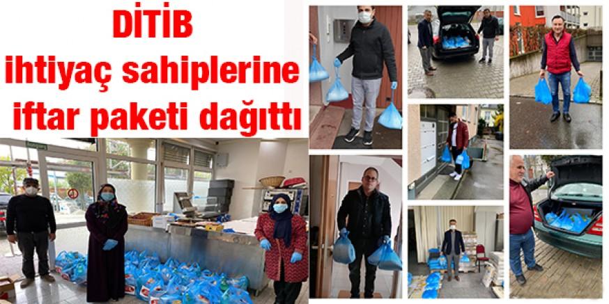 DİTİB ihtiyaç sahiplerine iftar paketi dağıttı