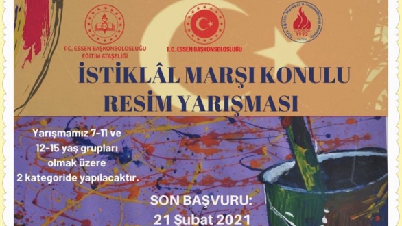 Essen Başkonsolosluğu, ''İstiklal Marşı'' konulu resim yarışması düzenliyor