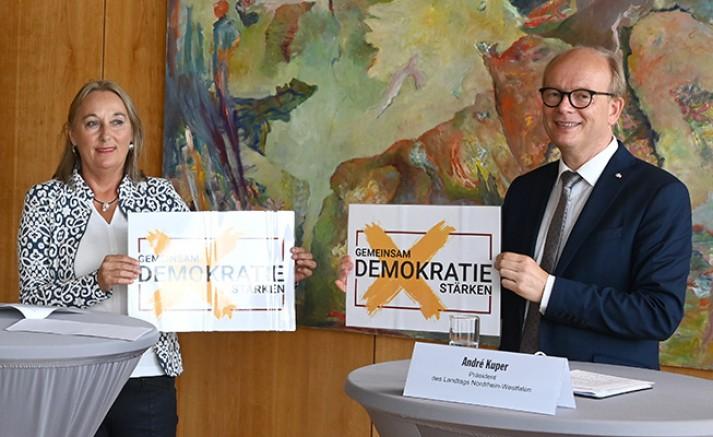 """""""Gemeinsam Demokratie stärken"""": Bündnis ruft zur Kommunalwahl auf"""