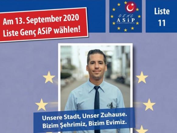 Liste Genç ASIP Köln Uyum Meclisi seçimlerine 11. sıradan katılıyor.