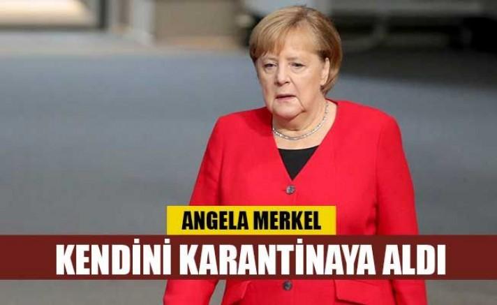 Merkel, koronavirüs nedeniyle kendisini karantinaya aldı.