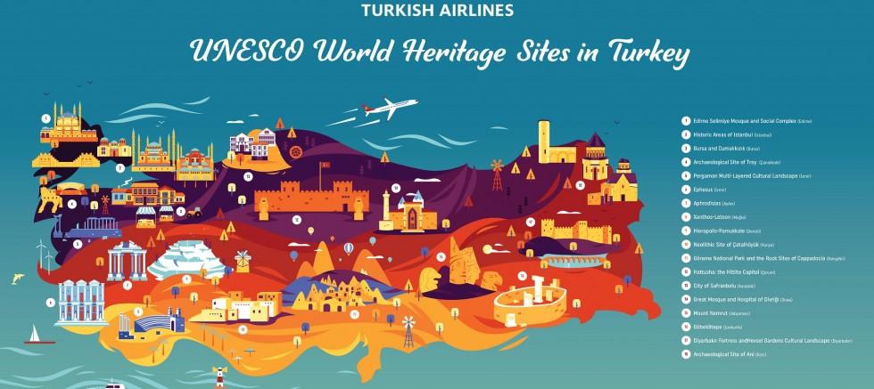 Turkish Airlines bringt Sie zu allen UNESCO-Weltkulturerben in der Türkei