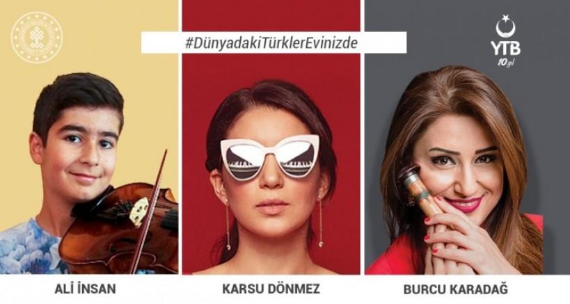 YTB'den, Koronavirüs Salgını Nedeniyle Evinde Kalan Türk Vatandaşlarına Dijital Konser